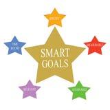 Умное слово целей играет главные роли концепция бесплатная иллюстрация