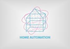 Умные иллюстрация домашней автоматизации 3 габаритная Стоковые Изображения