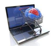 Умные онлайн покупки иллюстрация вектора