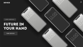 Умные телефоны на предпосылке бесплатная иллюстрация
