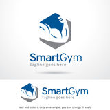 Умный вектор дизайна шаблона логотипа спортзала иллюстрация штока