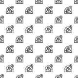 Умный дом защитить картину безшовную иллюстрация вектора