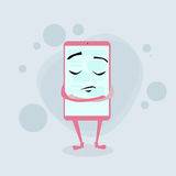 Умный закрытый персонаж из мультфильма пинка сотового телефона Стоковые Изображения RF