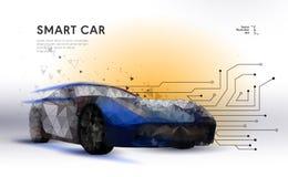 Умный или умный автомобиль иллюстрация вектора