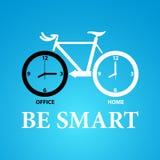 Умный к ехать велосипеду Стоковое Изображение