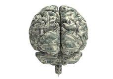 Умный мозг может заработать больше денег Стоковые Изображения RF