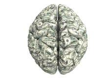 Умный мозг может заработать больше денег Стоковая Фотография RF