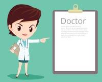Умный доктор представляя в различном действии Стоковое Изображение RF