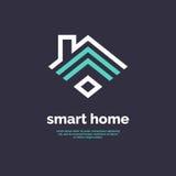 Умный домашний значок Знак Wi-Fi эмблемы Стоковые Фотографии RF