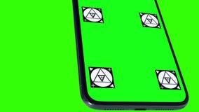 Умный телефон с зеленым экраном Стоковые Фотографии RF