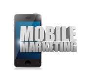Умный телефон с передвижным знаком маркетинга бесплатная иллюстрация