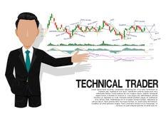 Умный технический торговец Стоковая Фотография RF