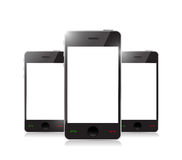 Умный телефон с пустым экраном Стоковое Изображение