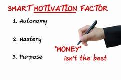 Умный фактор мотивировки концепции дела стоковое изображение