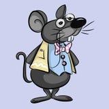 Умный шарж мыши - иллюстрация Стоковые Фото