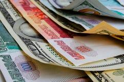 Умозрение валюты доллар рубля Стоковые Изображения RF