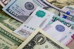 Умозрение валюты доллар рубля Стоковые Фото