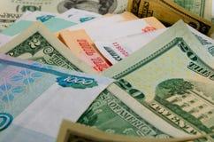 умозрение urrency  Рубль-доллара Ñ Стоковое Изображение