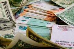 умозрение urrency  Рубль-доллара Ñ Стоковые Изображения RF