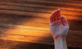 умолять руке Стоковые Изображения