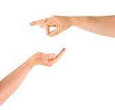 Умолять для изолированного жеста рукой помощи Стоковые Изображения
