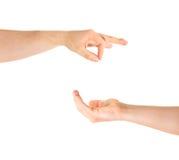Умолять для изолированного жеста рукой помощи Стоковое фото RF