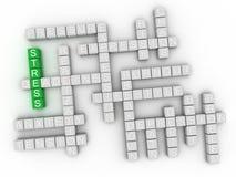 умственное напряжение концепции 3d схематическое Стоковая Фотография RF