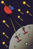 луна летания к Стоковая Фотография RF