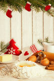 луна сердца печений рождества выпечки формирует звезду Стоковое Изображение RF