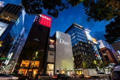 Универмаг Dior в Ginza, токио Стоковые Фото