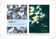 Универсальный дизайн плана шаблона рогульки с геометрическим элементом Стоковые Фотографии RF