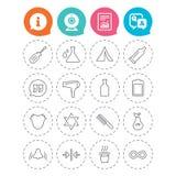 универсалия иллюстрации икон конструкции вы Располагаясь лагерем шатер, горячее питье кофе Стоковая Фотография RF