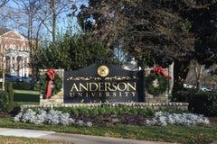 Университет Андерсона стоковые изображения rf