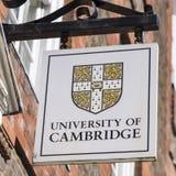 Университет знака Кембриджа Стоковое фото RF