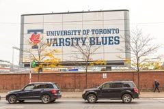 Университет знака син университетской спортивной команды Торонто Стоковые Изображения RF