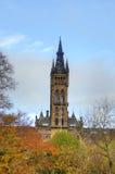 Университет здания Глазго главного - Шотландии Стоковое фото RF