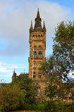Университет здания Глазго главного - Шотландии Стоковая Фотография RF