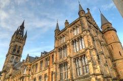 Университет здания Глазго главного - Шотландии Стоковые Изображения RF