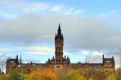 Университет здания Глазго главного - Шотландии Стоковые Фотографии RF