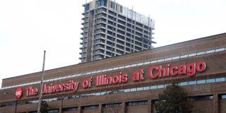 Университет Иллинойсаа на Чикаго стоковое фото rf