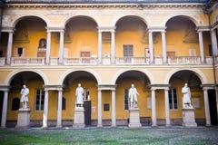 Университет Павии двора стоковое изображение