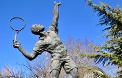 Университет спорта Пекин статуи теннисиста стоковая фотография