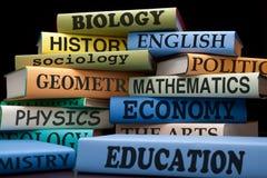 университет школы образования в объеме колледжа типов книг Стоковое Изображение RF