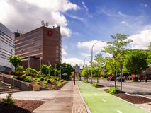 Университет Ave, Сиракуза, Нью-Йорк стоковое фото rf