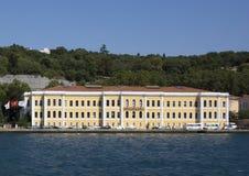 Университет Galatasaray осмотренный от Bosphorus Стоковая Фотография RF