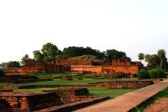 Университет Nalanda старый буддийский Стоковая Фотография RF