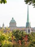 Университет Predigerkirche, Цюриха и церковь Fluntern Стоковое Изображение RF