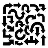21 уникальная стрелка в различных формах иллюстрация вектора