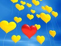 уникально воздушного шара красное Стоковые Фото