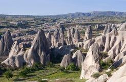 Уникально геологохимические образования в Cappadocia, Турции Стоковое Фото